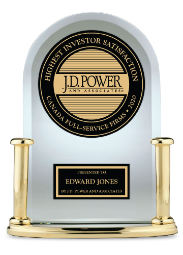 J.D. Power award for Edward Jones Canada - Highest Investor Satisfaction.